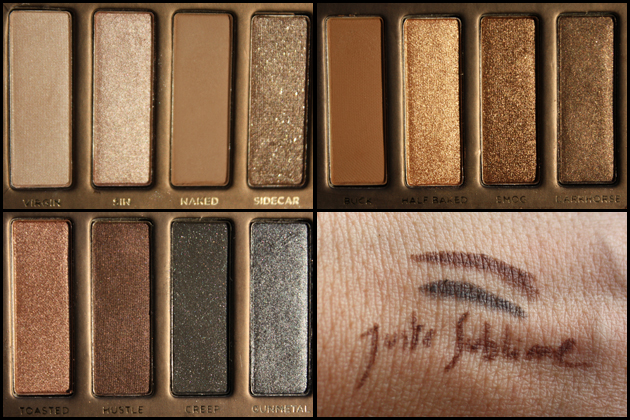 Naked Palette Urban Decay swatches