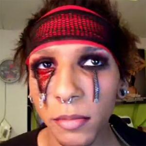 maquillage zombie zipper