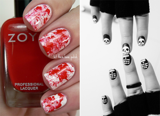 10 id es nail art pour halloween juste sublime - Idee nail art facile ...