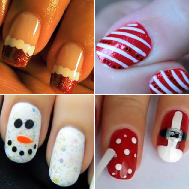 Ongles pour noel facile a faire - Nail art noel facile ...