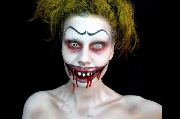 Bejiine s top 20 maquillage halloween - Maquillage de clown facile ...