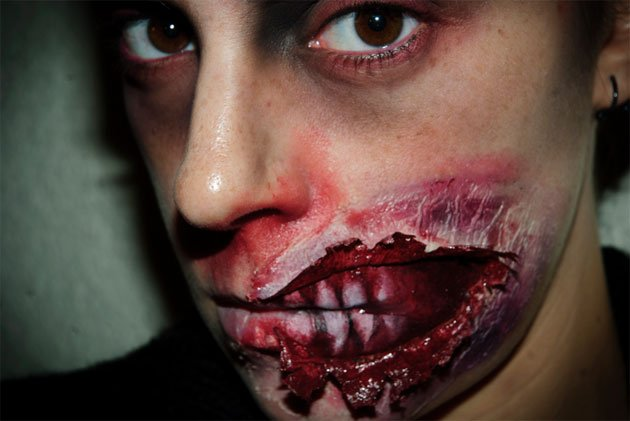 maquillage halloween qui fait peur sans latex