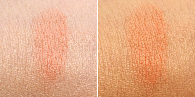 Swatch Peaches MAC