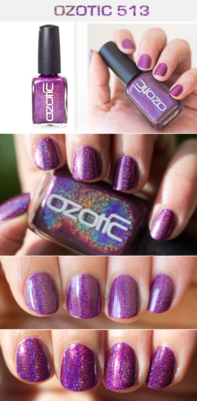 Ozotic 513 Holographic Purple Polish